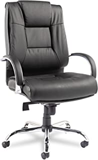 Alera ALERV44LS10C Ravino Big & Tall Series High-Back Swivel/Tilt Leather Chair, Black
