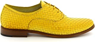 LEONARDO SHOES Luxury Fashion Womens W02708INTYELLOW Yellow Lace-Up Shoes | Season Permanent