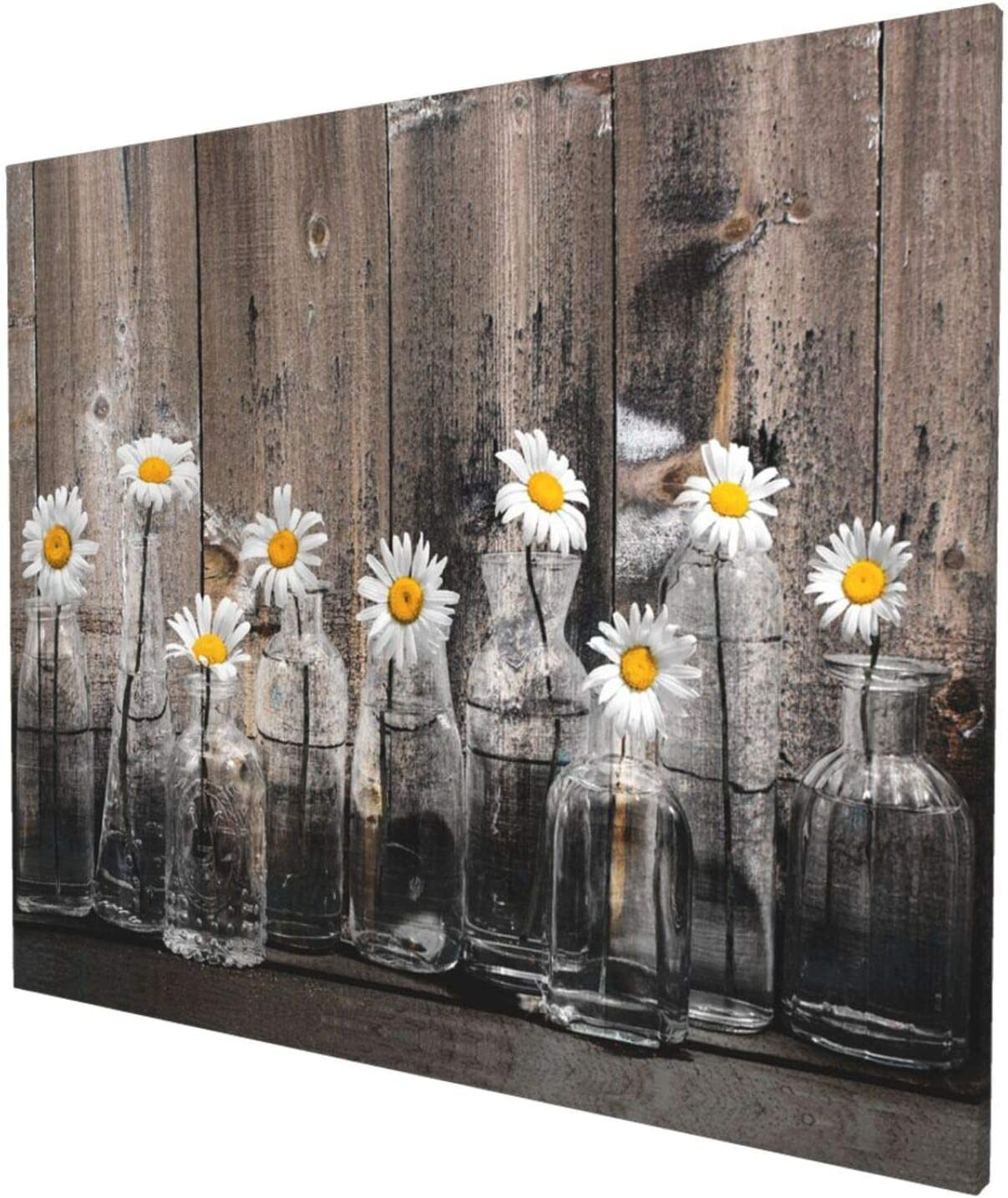 Year-end annual account EZYES Vintage Daisy Flower Vase Picture SALENEW very popular! Painting Abstract Modern