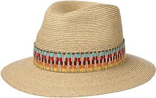 Lierys Cappello in Rafia Multicolour Trim Donna/Uomo - Made Italy di Paglia Estivo da Sole Primavera/Estate