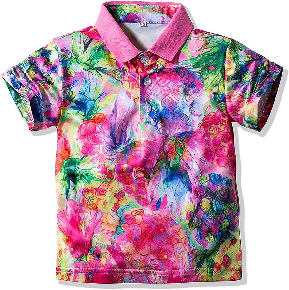Mubineo Toddler Little Boy Summer Coloful Short Sleeve Cotton Polo Shirt Tops