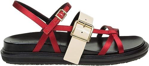 Marni Damen FBMS002301TV564ZL761 Rot Leder Sandalen