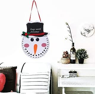 Olgaa Hanging Snowman Santa Advent Calendar Christmas Countdown Calendar for Indoor Outdoor Decoration (Snowman Countdown)