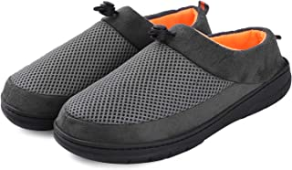 VONMAY Men Clog Indoor Outdoor House Slippers Warm Cotton Lined Anti Skid Slippers