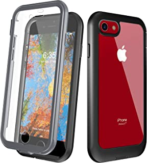 Justcool iPhone 8 Plus Case, iPhone 7 Plus Case, Full Body with Built-in Screen Protector Heavy Duty Protection Shockproof Slim Fit Cover for Apple iPhone 7/8 Plus (2017) 5.5 Inch - Black
