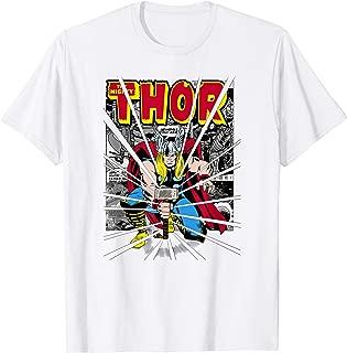 Marvel Mighty Thor Retro Comic Hammer Blast Kids T-Shirt