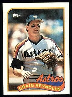 1989 Topps # 428 Craig Reynolds Houston Astros (Baseball Card) Dean's Cards 8 - NM/MT Astros