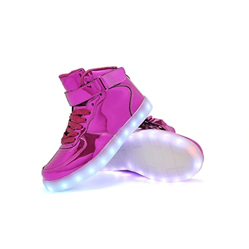 819adf38111b TUTUYU Kids 11 Colors LED Light Up Shoes High Top Fashion Flashing Sneakers  Purple 35