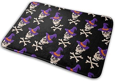 Cartoon Skulls Carpet Non-Slip Welcome Front Doormat Entryway Carpet Washable Outdoor Indoor Mat Room Rug 15.7 X 23.6 inch