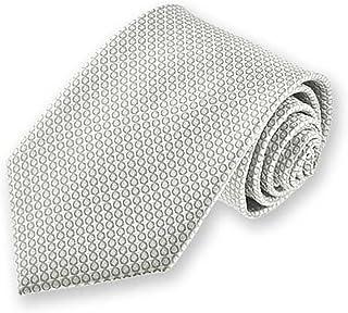 TieMart Boys' Soft Gray Henry Grain Pattern Necktie