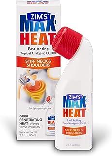 Zim's Max Heat Topical Analgesic Liquid with Sponge Applicator 2.7 Fl. Oz