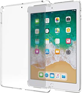 MoKo Fit 2018/2017 iPad 9.7 6th/5th Generation - Frosted Transparent Slim Hard Plastic Protector Back Cover Fit Apple iPad 9.7 Inch 2018/2017 [Compatible with Official Smart Cover] - Clean Clear