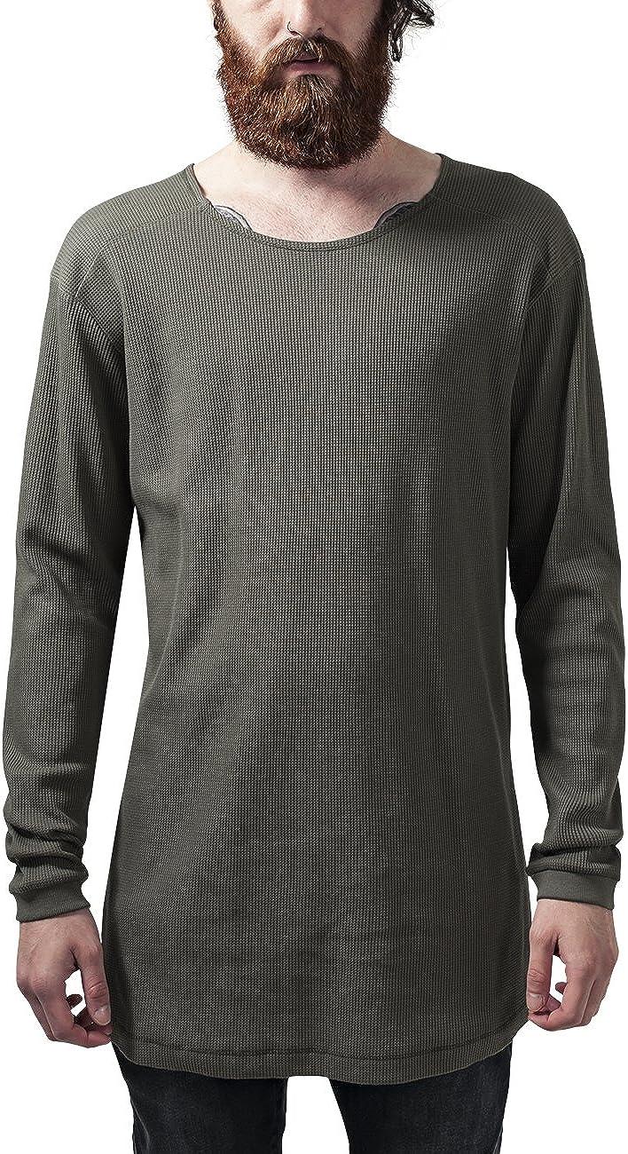 outlet Urban Classics - Shaped Waffle Boston Mall Shirt Long Extra Longsleeve