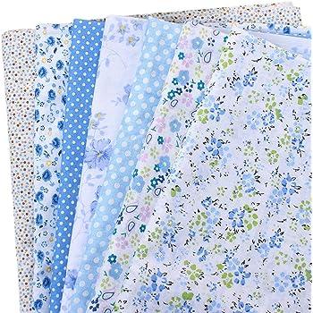 CUTOOP - 7 piezas de tela de retales 100% algodón, diferentes ...