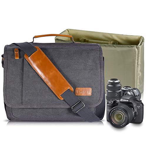 db8a9bd6d85 Estarer Camera Shoulder Bag for SLR/DSLR Digital Cameras Laptop Canvas  Messenger Bag with Camera