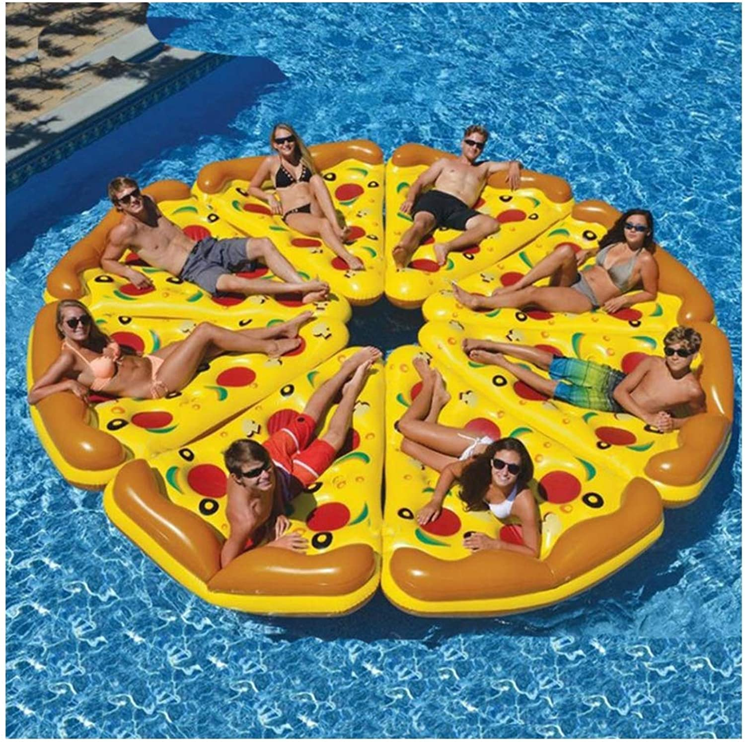 comprar mejor Kimmyer 8 Paquetes Paquetes Paquetes Enorme Inflable Pizza Slice Pool Float, Extra Grande con portavasos, Fun Pool Floaties, Swim Party Juguete, Summer Pool Raft para Swmming Pool  calidad garantizada