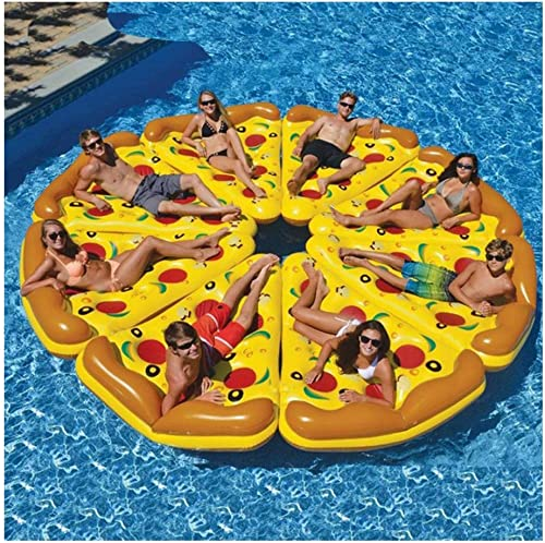 mejor servicio Kimmyer 8 Paquetes Enorme Enorme Enorme Inflable Pizza Slice Pool Float, Extra Grande con portavasos, Fun Pool Floaties, Swim Party Toy, Summer Pool Raft para Swmming Pool  venta directa de fábrica