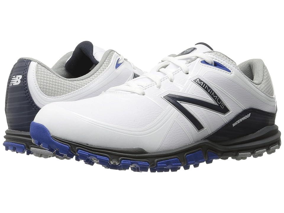 New Balance Golf NBG1005 Minimus (White/Blue) Men's Golf Shoes