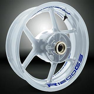 Stickman Vinyls Reflektierende Blau Motorrad Inner Rim Tape Decal Aufkleber Kompatibel Mit BMW R1200GS