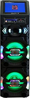 "Mr. Dj Fiesta Show 3-Way Dual Active Speaker,Built-in Rechargeable Battery, 12"" LCD Screen, DVD Player, Bluetooth Technology USB/SD Reader FM Radio Tuner"