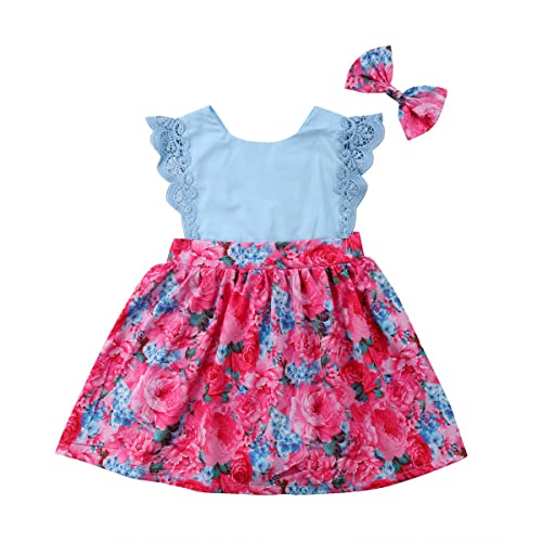 81e563a8e9ac Big Little Sister Floral Matching Clothing Lace Ruffle Sleeve Romper Dress  Outfit Clothes