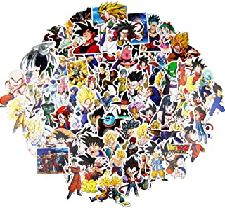 Dragon Ball Z Stickers for Kis Teens Boys Girls(100pcs no repeated)Graffiti Decal for Snowboard Motorcycle Bicycle DIY Party Supplie Patches Japanese Anime Stickers for Luggage Guitar Computer Keyboar