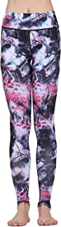 Lady's Printed Wide Waistband High Compression Workout Yoga Leggings