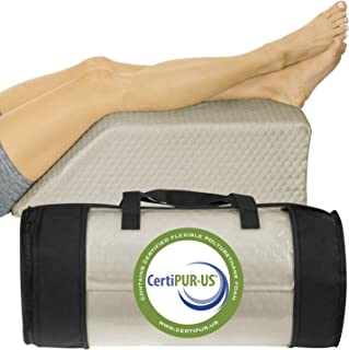 Xtra-Comfort Leg Elevation Pillow - Wedge Elevator Support Cushion for Sleeping, Pregnancy, Maternity, Elevated Prop Up Position, Back Pain, Foot Raise, Sciatica - Knee Elevating Incline Memory Foam
