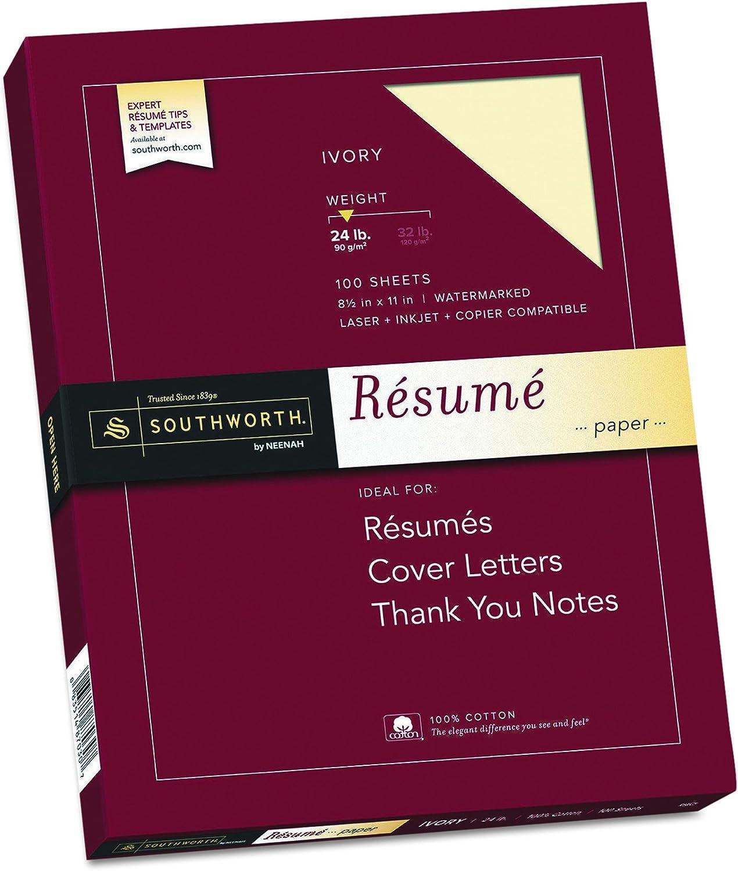 100% Cotton Resume Paper, Paper, Paper, Ivory, 24 lbs., 8-1 2 x 11, Wove, 100 Box B00006IE2N | Rich-pünktliche Lieferung  067783