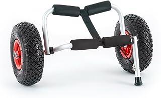 DURAMAXX Sea Mule SL Carro transporte de kayak plegable (superficie acolchada, neumáticos goma, carrito soporte canoa, carga hasta 60kg, escaso peso, desmontable, aluminio)