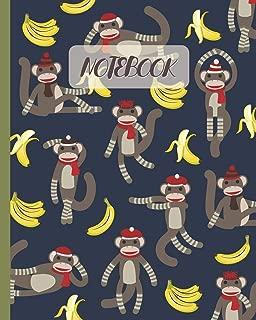 Notebook: Cute Sock Monkeys & Bananas - Lined Notebook, Diary, Track, Log & Journal - Gift Idea for Boys Girls Teens Men Women (8