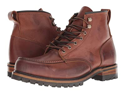 Frye Penn Lug Moc Workboot (Brown Oiled Vintage) Men