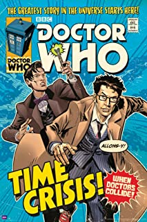 Doctor Who Time Crisis Comic Book Cover Art Sci Fi British TV Television Show Poster Print 24x36