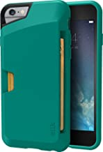 Smartish iPhone 6/6s Wallet Case - Wallet Slayer Vol. 1 [Slim + Protective] Credit Card Holder for Apple iPhone 6s/6 (Silk) - Pacific Green