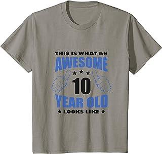 Niños 10º Cumpleaños Impresionante Regalo Niños Niña Edad 10 años Camiseta