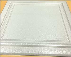 Zeta White (Foam) Ceiling Tile - 100pc Box - Decorative Ceiling Tile Easy Glue up DIY
