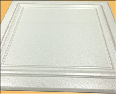 Zeta White (Foam) Ceiling Tile - 100pc Box - Decorative Ceiling Tile Easy Glue up DIY