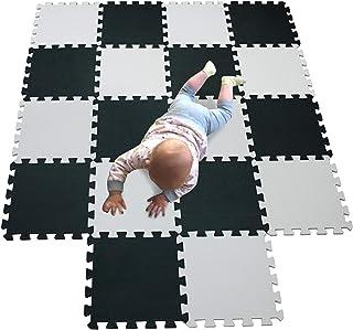 comprar comparacion MQIAOHAM área de juego para niños colchonetas de espuma de juego de bolas rompecabezas tapete de juego tapete de bebé alfo...