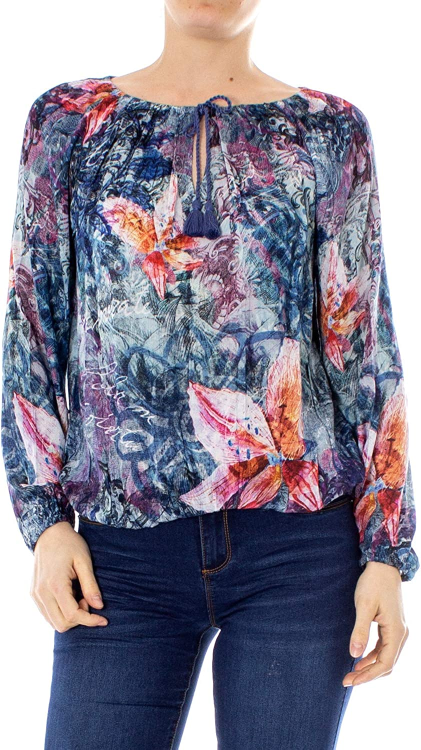 Desigual Blouse Woman blues Silke 19SWBWAC