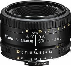 Nikon 2137 50mm f/1.8D Auto Focus Nikkor Lens for Nikon Digital SLR Cameras (Renewed)