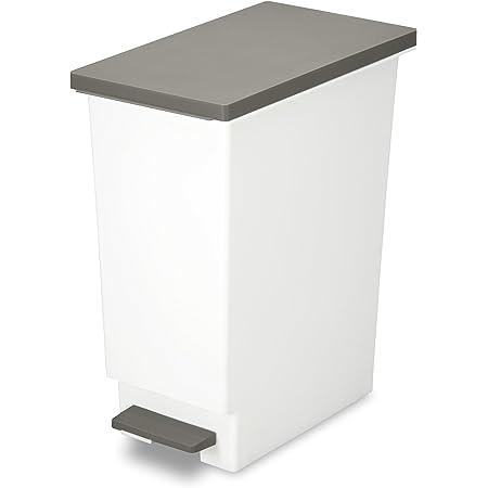トンボ ゴミ箱 45L 日本製 フタ付き ペダル式 分別 スリム ブラウン ネオカラー 新輝合成