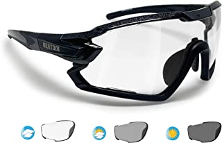 BERTONI Sport Sunglasses Polarized Photochromic Cycling MTB Running Ski Golf Removable Sport Prescription Glasses Carrier Included mod. Quasar
