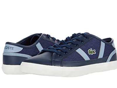 Lacoste Kids Sideline 0120 1 CUJ (Little Kid/Big Kid) (Navy/Light Blue) Kid