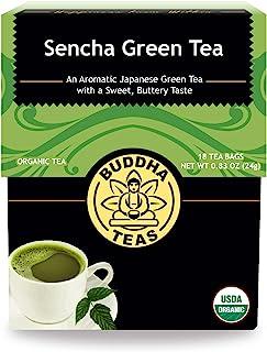 Organic Sencha Green Tea – 18 Bleach-Free Tea Bags – Energizing Tea with Caffeine, Natural Source of Antioxidants and L-th...