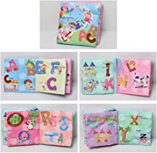XuBa 1pc Baby Early Learning Soft Cloth Books Creative Squeak Crinkle Book Puzzle Toys Gifts for Kids ABC