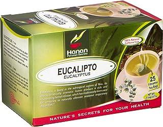 Hanan Eucalyptus Tea (Hojas de Eucalipto) - 25 Tea Bags - Dried Eucalyptus Leaves from Real Plants Grown in Peru – Herbal ...