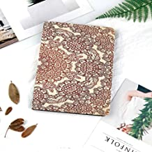 Case for iPad 9.7 2018 2017 / iPad Air 2 / iPad Air - [Corner Protection] Multi-Angle Viewing Rugged Soft TPU Back Cover,Auto Sleep/Wake,Ethnic,Vintage Round Pattern Ethnic Mehndi Style Brown Tones Sp