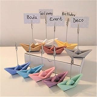 10 mini barche a vela con clip per foto origami,matrimonio, decorazione mare, battesimo, decorazione bambini, eventi, viaggi.