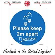 White Background MA634 Social Distancing Zone Only People Allowed in at A Time Sign Virus Safety 100mm x 150mm Sticker//Sav