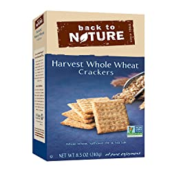 Back to Nature Non-GMO Harvest Whole Wheat Crackers, 8.5 Ounce